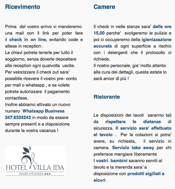 sicurezza hotel coronavisrus